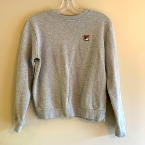 Fila Classic Gray Crewneck Sweatshirt Small